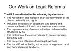 our work on legal reforms