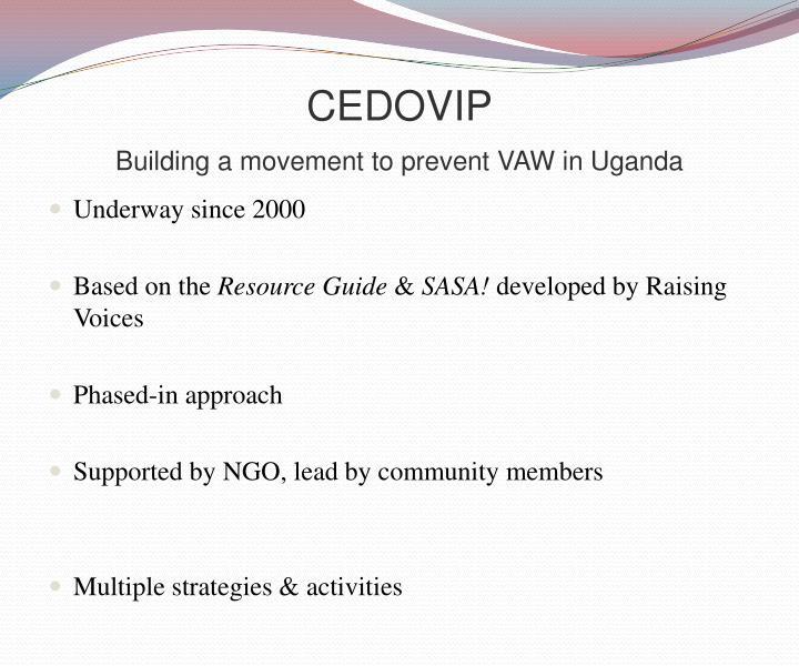 Cedovip building a movement to prevent vaw in uganda