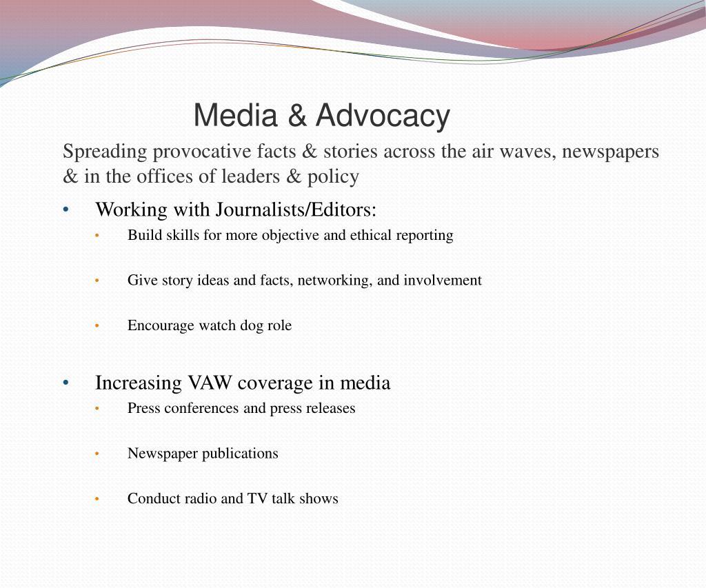 Media & Advocacy