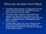 what can we learn from rakai22