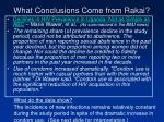 what conclusions come from rakai15