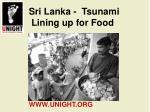 sri lanka tsunami lining up for food