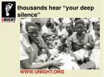 thousands hear your deep silence