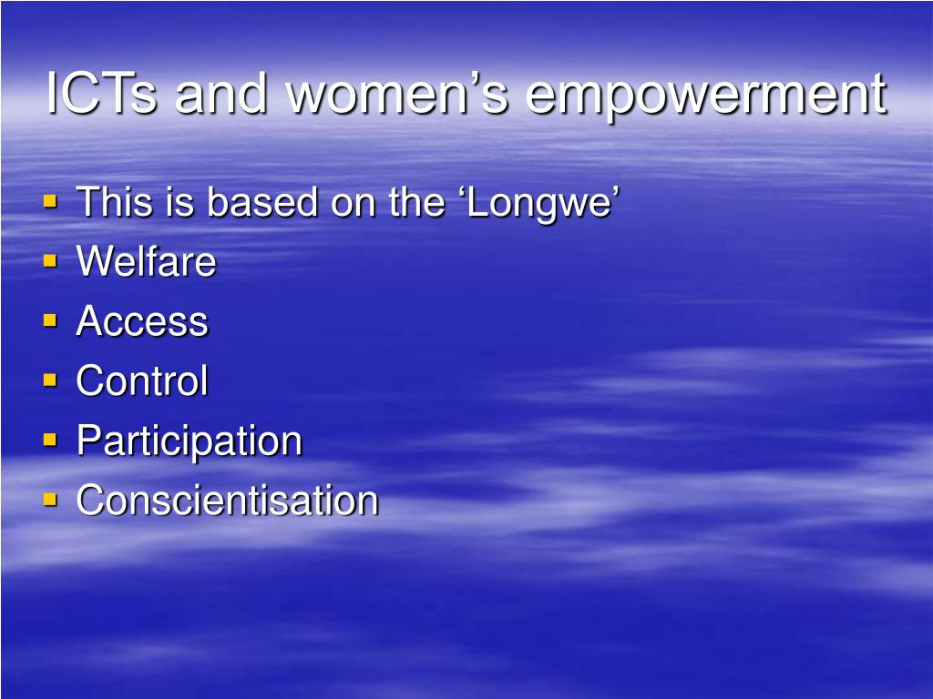 ICTs and women's empowerment