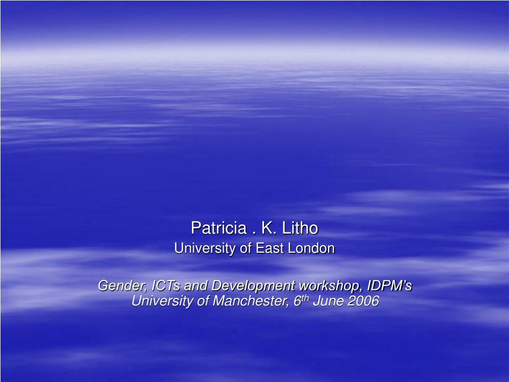 Patricia . K. Litho