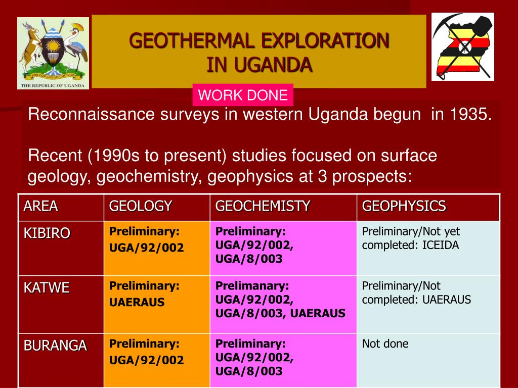 GEOTHERMAL EXPLORATION