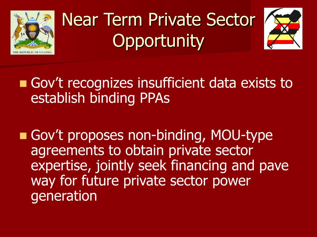 Near Term Private Sector Opportunity