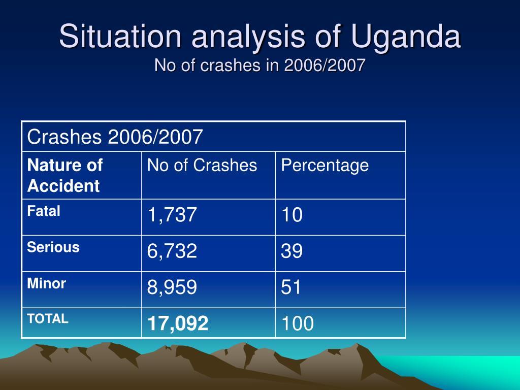 Situation analysis of Uganda
