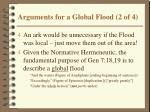 arguments for a global flood 2 of 4