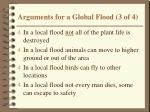 arguments for a global flood 3 of 4