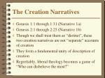 the creation narratives1