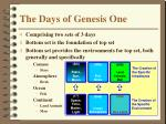 the days of genesis one