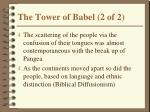 the tower of babel 2 of 2