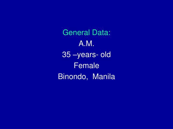 General Data: