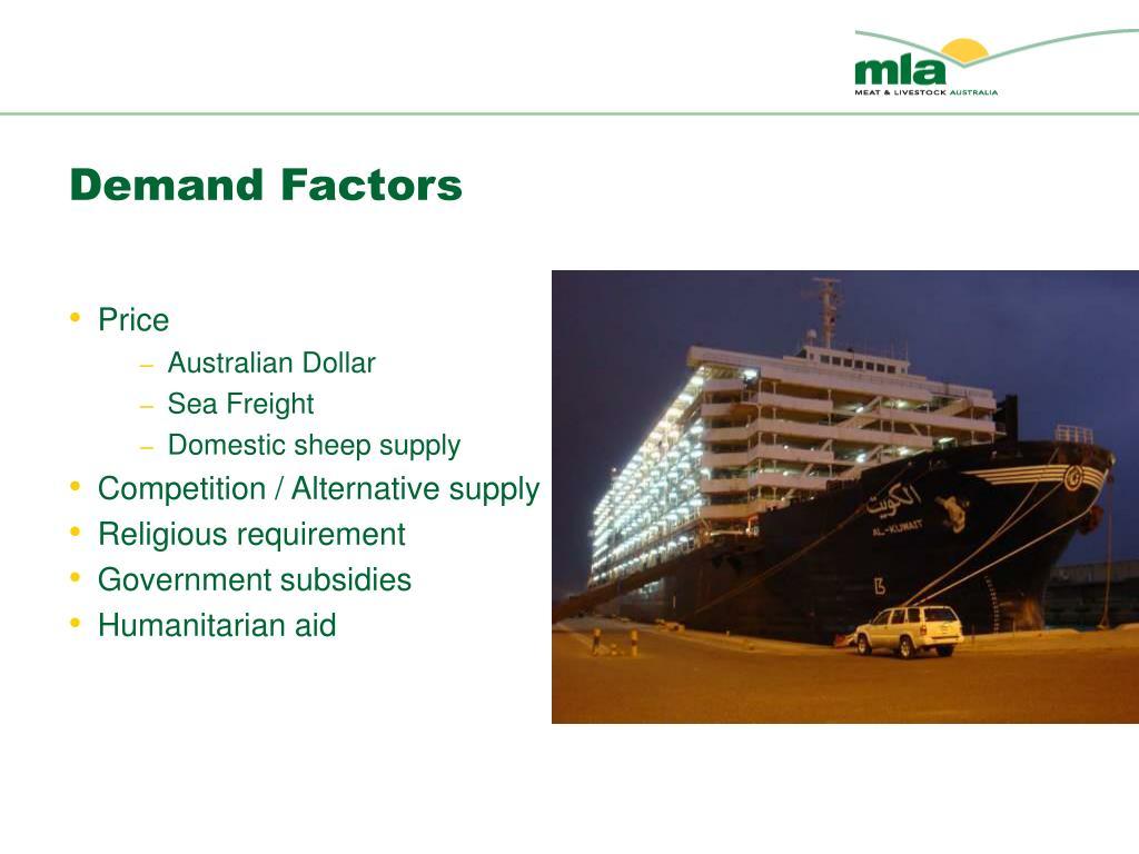Demand Factors