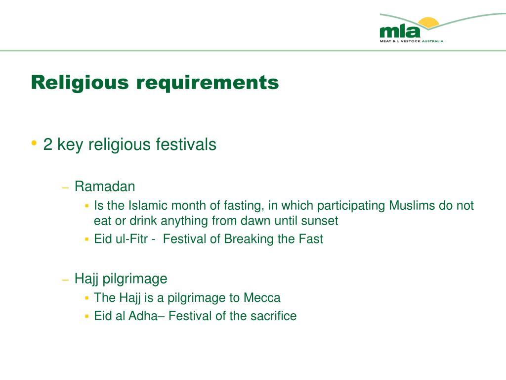 Religious requirements
