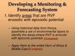 developing a monitoring forecasting system