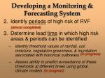 developing a monitoring forecasting system8