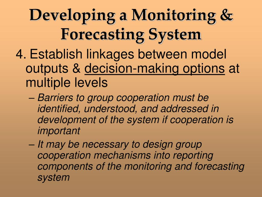 Developing a Monitoring & Forecasting System