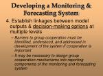 developing a monitoring forecasting system9