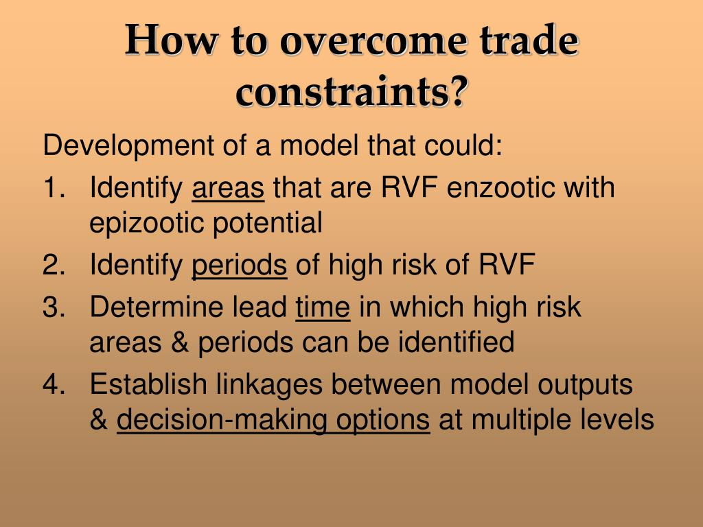 How to overcome trade constraints?