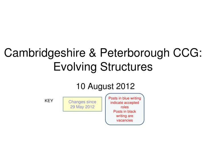 cambridgeshire peterborough ccg evolving structures n.
