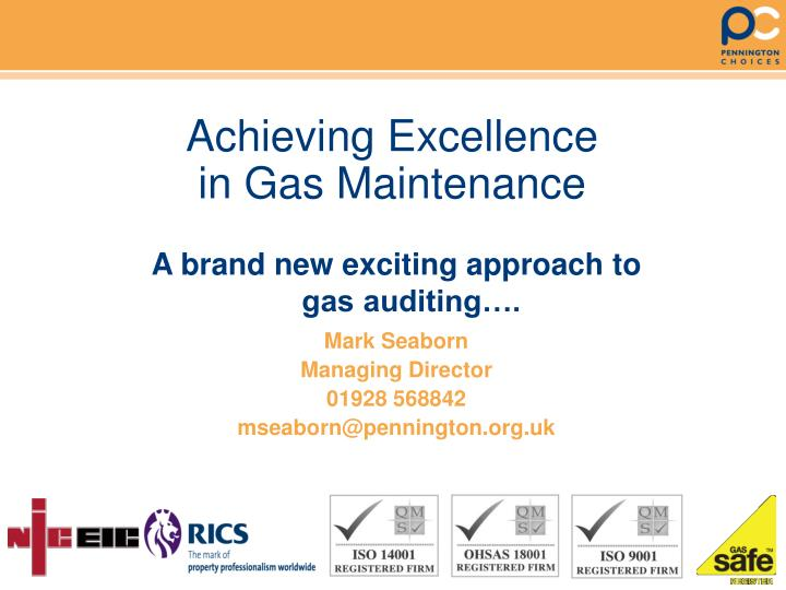 achieving excellence in gas maintenance n.