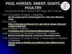 pigs horses sheep goats poultry chairmen ass prof phd h peterson phd p piirsalu msc a t navots3