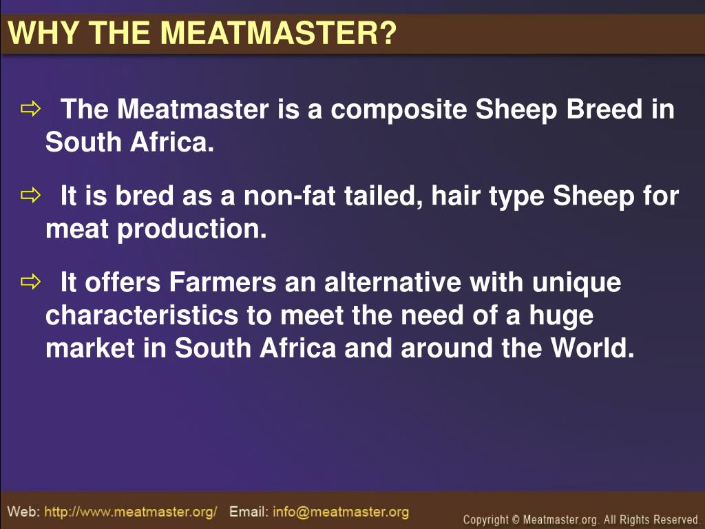 WHY THE MEATMASTER?