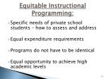 equitable instructional programming