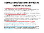 demographic economic models to explain enclosures