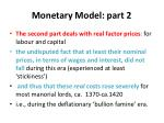 monetary model part 2