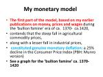 my monetary model