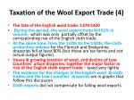taxation of the wool export trade 4