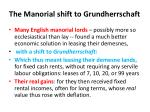 the manorial shift to grundherrschaft