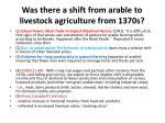 was there a shift from arable to livestock agriculture from 1370s