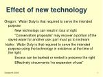 effect of new technology