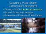 cpperbelly water snake conservation agreement