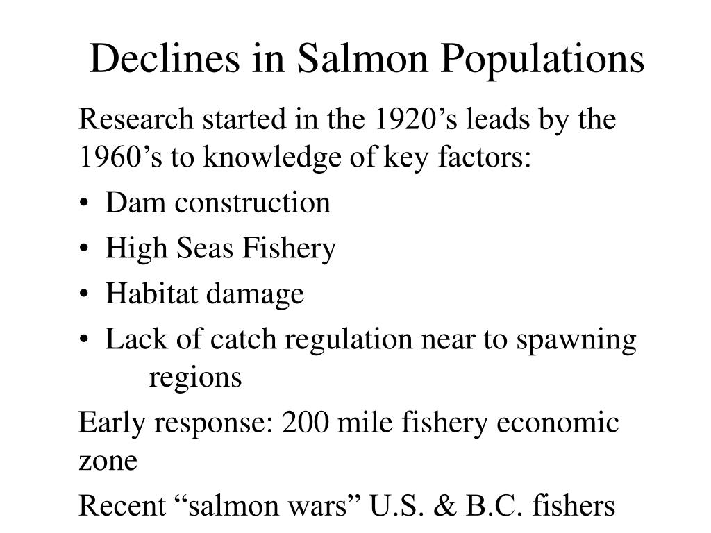 Declines in Salmon Populations