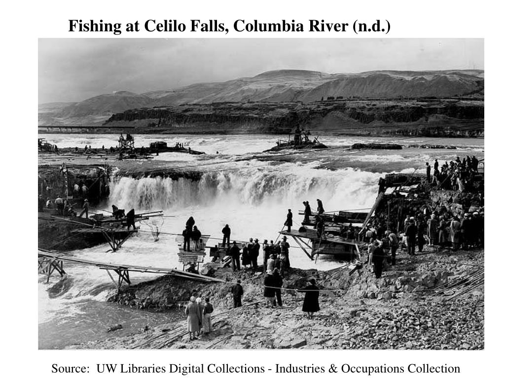 Fishing at Celilo Falls, Columbia River (n.d.)