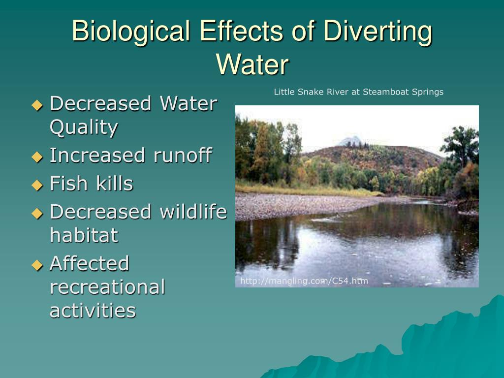 Biological Effects of Diverting Water