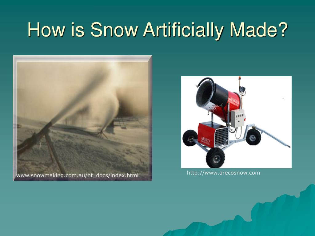 How is Snow Artificially Made?