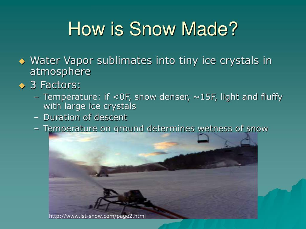 How is Snow Made?