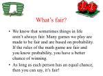 what s fair