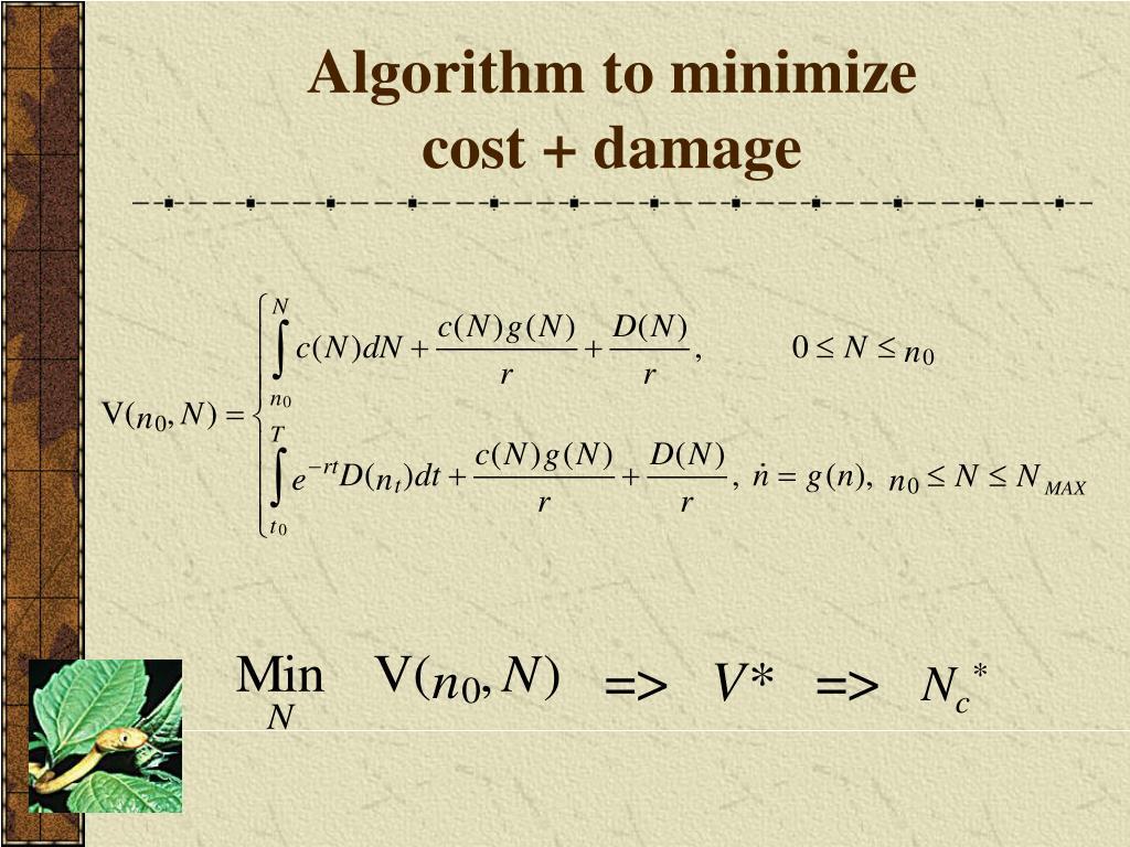 Algorithm to minimize