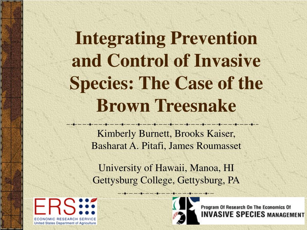integrating prevention and control of invasive species the case of the brown treesnake l.