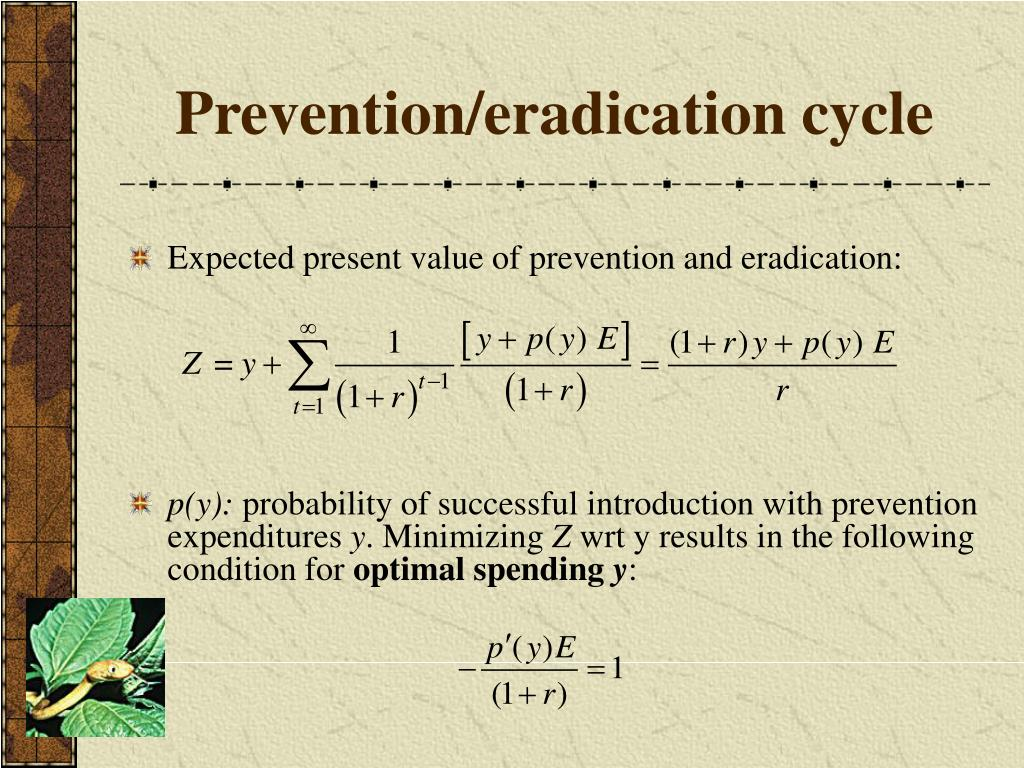 Prevention/eradication cycle