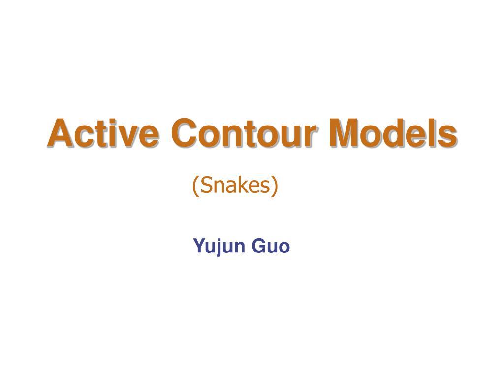 active contour models l.
