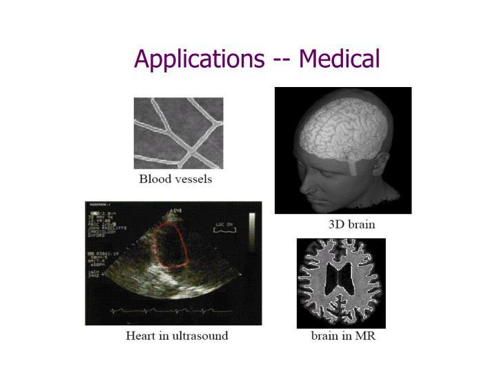 Applications medical