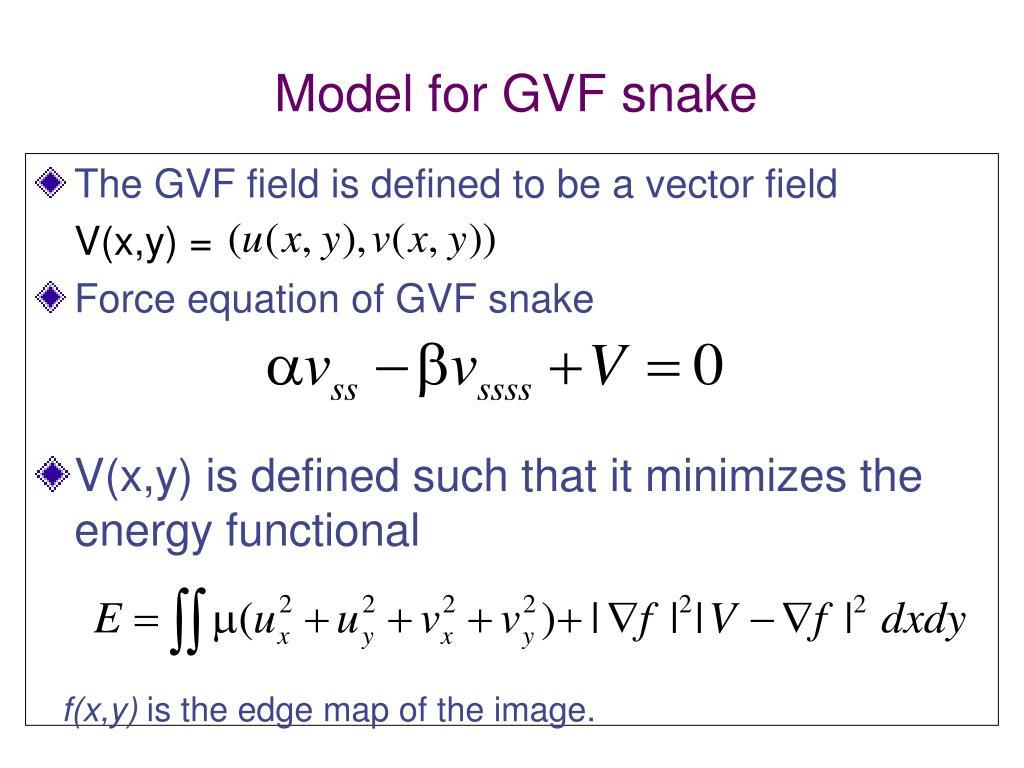 Model for GVF snake